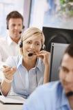 Retrato do operador do serviço ao cliente Imagens de Stock