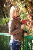 Retrato do outono da menina Foto de Stock Royalty Free