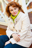 Retrato do outono da mulher Imagem de Stock Royalty Free
