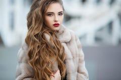 Retrato do outono da mulher bonita imagem de stock royalty free