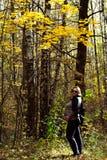 Retrato do outono de uma menina Fotos de Stock Royalty Free