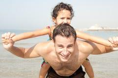 Retrato do pai e da filha Foto de Stock