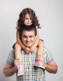 Retrato do pai e da filha Foto de Stock Royalty Free