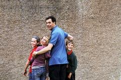 Retrato do pai e das crianças Fotografia de Stock