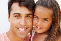 Retrato do pai latino-americano And Daughter Imagem de Stock