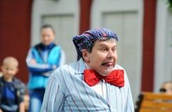 Retrato do palhaço na rua Imagem de Stock Royalty Free