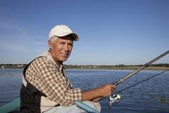 Retrato do pescador Fotos de Stock