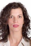 Retrato do ponto morto da mulher Fotos de Stock Royalty Free