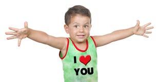 Retrato do rapaz pequeno bonito Fotos de Stock