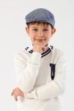 Retrato do rapaz pequeno bonito foto de stock