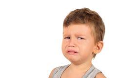 Retrato do rapaz pequeno de grito Fotos de Stock Royalty Free