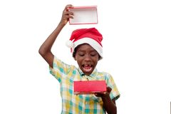 Retrato do rapaz pequeno feliz foto de stock royalty free