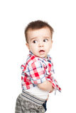 Retrato do rapaz pequeno feliz fotos de stock royalty free
