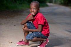 Retrato do rapaz pequeno foto de stock