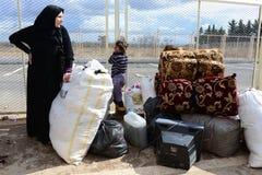 Retrato do refugiado das crianças Fotos de Stock Royalty Free