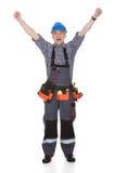 Retrato do reparador feliz Fotografia de Stock