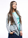 Retrato do retrato ocasional da mulher de Yong, sorriso, modelo bonito Fotografia de Stock