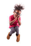 Retrato do salto novo da menina do americano africano Imagens de Stock Royalty Free