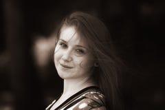 Retrato do sepia da mulher Imagem de Stock Royalty Free