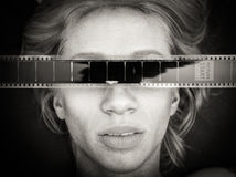 Retrato do ser humano do filme de terror do medo Imagem de Stock Royalty Free