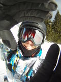 Retrato do Snowboarder Fotografia de Stock Royalty Free