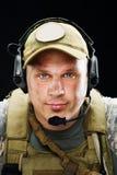 Retrato do soldado Fotos de Stock