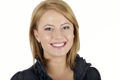 Retrato do sorriso bonito da mulher imagens de stock