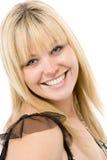 Retrato do sorriso da mulher fotos de stock