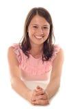 Retrato do sorriso da mulher nova Fotografia de Stock Royalty Free