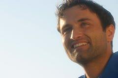 Retrato do sorriso de um homem imagens de stock