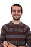 Retrato do sorriso do homem novo fotos de stock royalty free