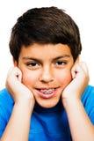 Retrato do sorriso do menino Fotos de Stock Royalty Free