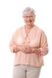 Retrato do sorriso maduro da mulher Fotos de Stock Royalty Free