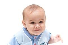 Retrato do sorriso velho de seis meses do bebê Imagem de Stock Royalty Free