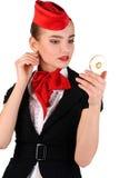 Retrato do stewardess Imagem de Stock