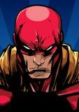 Retrato do super-herói na noite ilustração do vetor