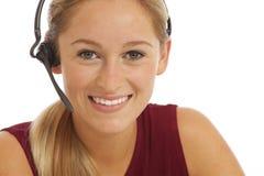 Retrato do telemarketer novo Imagem de Stock
