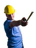 Retrato do trabalhador da construção Fotografia de Stock