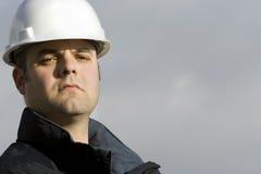 Retrato do trabalhador da construção Fotos de Stock