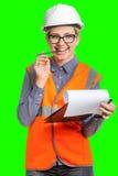 retrato do trabalhador fêmea fotos de stock