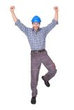Retrato do trabalhador feliz Fotos de Stock