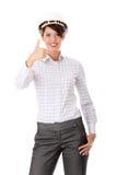 Retrato do trabalhador fêmea confiável Foto de Stock