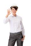 Retrato do trabalhador fêmea confiável Imagem de Stock