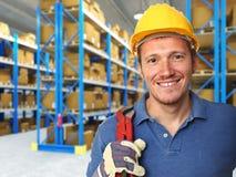 Retrato do trabalhador manual Fotos de Stock