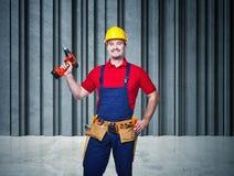 Retrato do trabalhador manual imagens de stock