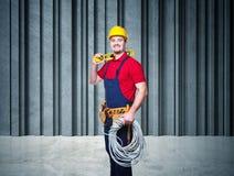 Retrato do trabalhador manual imagens de stock royalty free