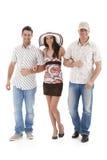 Retrato do verão de amigos felizes Imagem de Stock Royalty Free
