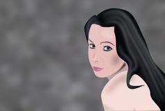 Retrato do vetor Imagens de Stock Royalty Free