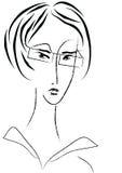 Retrato do vetor da mulher de negócios Imagens de Stock Royalty Free