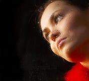 Retrato do vidro da menina Foto de Stock